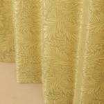 南国風リーフ柄のカーテン