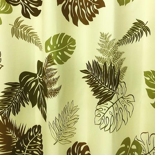 モンステラ柄のカーテン