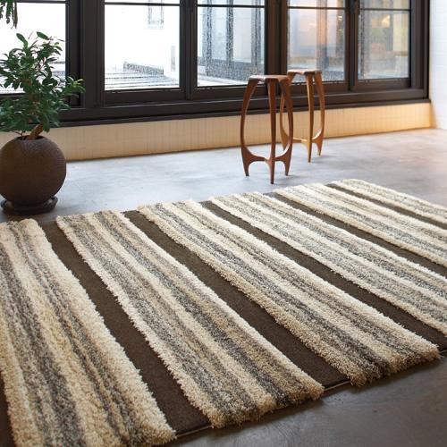 ブラウンベースのラグ カーペット 絨毯