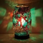 アンティーク調のモザイクガラス照明ライト