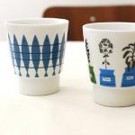 ニシンのイラストパターン柄マグカップ