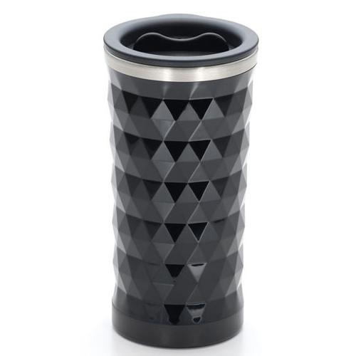 黒の三角形パターンタンブラー