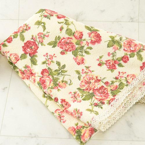 バラの花柄タオル