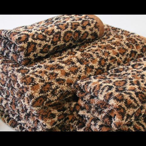 豹柄アニマルパターン バスタオル