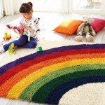 虹柄レインボーラグマット