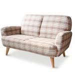 ファブリック チェック柄のソファー