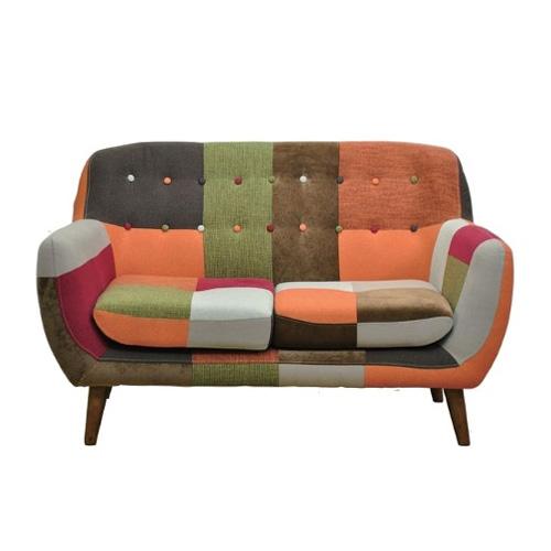 モダン配色のパッチワーク ソファー