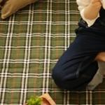 緑色のタータンチェック柄カーペット