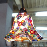 イタリア製モザイクデザインのランプ照明