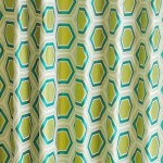 亀甲柄のフランス製カーテン