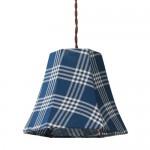 青いチェック柄の1灯ランプ