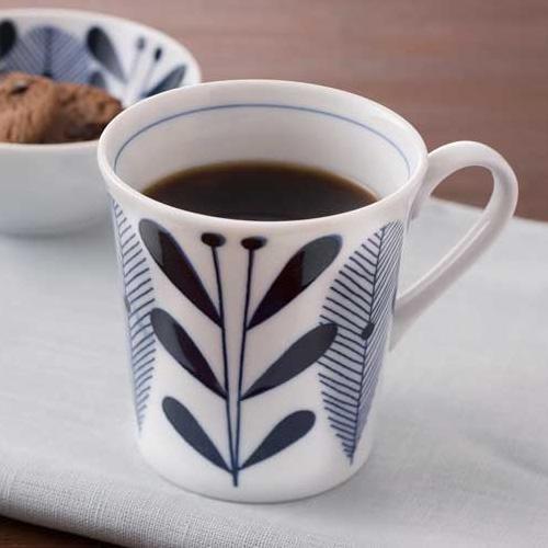 リーフイラストの和テイスト・マグカップ