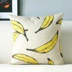 バナナのイラストのクッションカバー