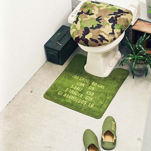 カモフラージュ迷彩柄のトイレカバー