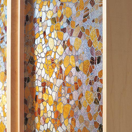ルネサンスカラーのステンドガラス風フィルム