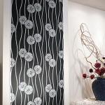 和風モダン菊柄ののり付き壁紙