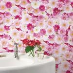 リアルなピンクの花畑壁紙