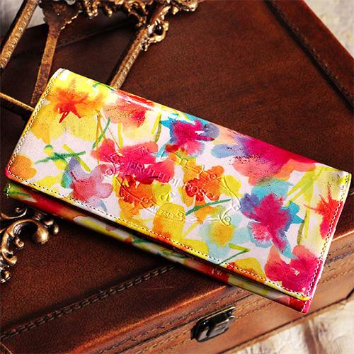 花柄の長財布 フルッティ