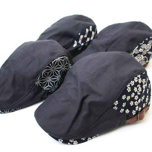 和柄切り替えハンチング帽子