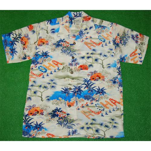 シルクのアロハシャツ