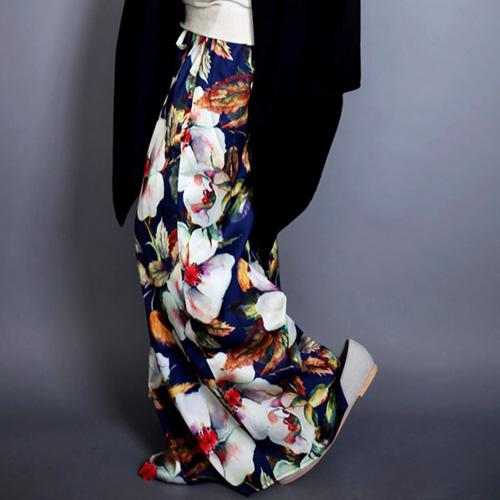 アシメ花柄サスペスカート