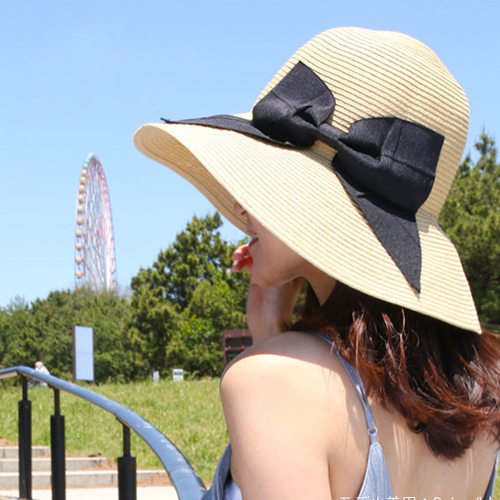 麦わら帽子 UVカット